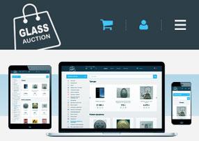 Дизайн сайта: Интернет аукцион «GLASS.UA». Автор: di56.ru - дизайнер Дмитрий Ковалёв.