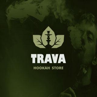 Логотип для магазита кальянной продукции «TRAVA». Автор: di56.ru - дизайнер Дмитрий Ковалёв