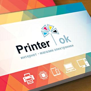 Логотип для компании «Принтер ОК». Автор: di56.ru - дизайнер Дмитрий Ковалёв